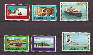ANGUILLA 1969-77. SALT INDUSTRY - SALT POND FULL SET! 2 SILVER JUBILEE ALL MNH
