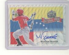 Wander Franco auto autograph card 2018 Leaf Metal Draft National Pride NM Rays