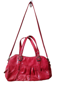 MAXX New York Large Slouchy Red Shoulder Bag Boho Cross Body Lots of Pockets