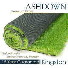 Ashdown Kingston Premium Artificial Grass Realistic Astro Garden Turf Fake Lawn