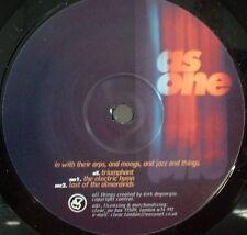 "AS ONE In With Their Arps & Moogs & Jazz 12"" vinyl CLEAR 1997 Kirk Degiorgio"