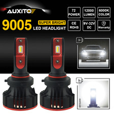 2X CREE 9005 HB3 12000LM 72W LED Headlight Bulb Kit High Beam Power White 6500K