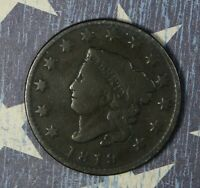 1819 CORONET HEAD LARGE CENT SMALL DATE COPPER COLLECTOR COIN FREE SHIPPING