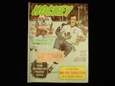 February 1974 Hockey Pictorial Magazine - Dave Keon Maple Leafs Cover