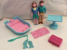 Fisher Price LOVING FAMILY Dollhouse Lot For CAMPER VAN RV! People, Boat... L19