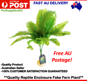 Artificial Fake Reptile Plant Plastic Fake Plant Reptile Enclosure Decoration AU