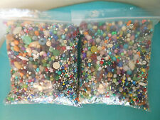 4.10  pound bead lot mixed shapes colors taken from old jewelry estate lot #4