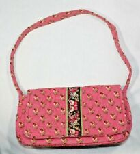 vintage Vera Bradley Pink Pansy retired flap purse shoulder bag butterfly
