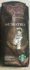 (Lot of 2) 1 LB  STARBUCKS SUMATRA  Dark Roast Whole Bean Coffee