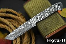 Custom San Mai Damascus Steel Blank Blade Tanto Hunting Knife Handmade (H972-D)