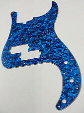 D'ANDREA PRO P BASS PICKGUARD 13 HOLE BLUE PEARLOID MADE IN THE USA
