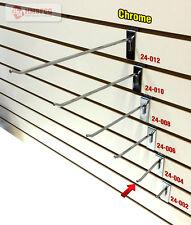 "4"" Slatwall Metal Hooks (24-004CH) - 100 Piece - Chrome (NEW)"