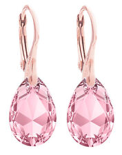 Ah! Jewellery® 16mm Light Rose Pear Crystals From Swarovski® Earrings.