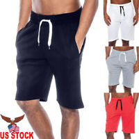 Men's Summer Casual Workout Tech Fleece Shorts Baggy Sport Jogger Beach Pants