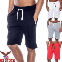 Men's Summer Casual Workout Tech Fleece Shorts Baggy Sport Jogger Beach Pants