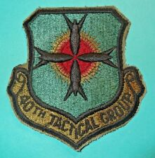 Military Usaf 40th Tactical Group Full Color Insignia Unit #803