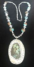 Necklace Native American Navajo Silver and Turquoise