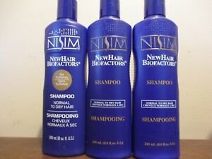 Lot of 3 Nisim Normal to Dry hair Shampoo 8 oz each