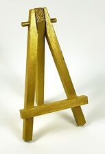 "5"" Wood Mini Easels Metallic Gold w/Rubber feet for Art ATC's Parties Cards +"