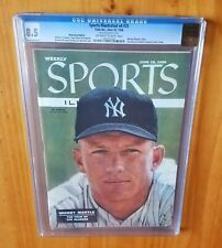 Sports Illustrated 1956 Mantle Newsstand CGC 8.5 Great Cover Coup de Gras of SIs