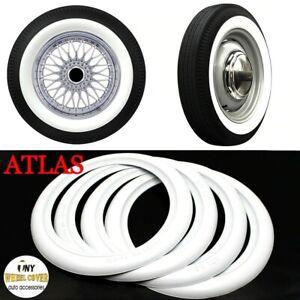 "ATLAS 15"" White Wall Portawall Rubber ring insert trim 4 pcs VW BUG PRE BEETLE"