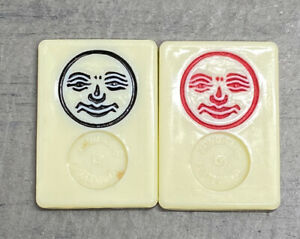 VTG Original Rummikub 1980 Replacement Parts* Pieces 2 Jokers Black&Red Pressman