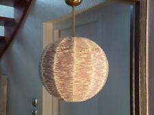 SUSPENSION VINTAGE FIL laine laiton BOULE LAMPE DESIGN 60 70