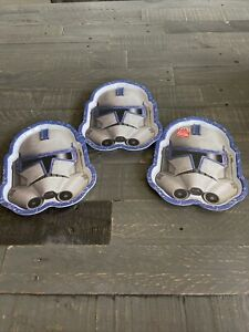 3)Zak Designs 2013 Lucasfilms Star Wars Stormtrooper Darth Vader Plate 8 Inch **