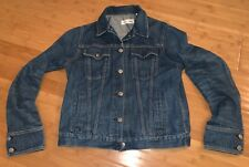CLASSIC WOMENS RAG AND BONE MEDIUM BLUE DENIM JEAN JACKET SZ M