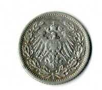 Moneda Alemania Imperio alemán medio marco 1906 F  plata .900 silver coin mark