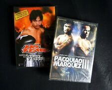Manny Pacquiao VS Juan Manuel Marquez 3 and documentary DVD- 2 NEW,Mayweather