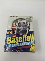 1988 Fleer Baseball Card wax pack box 36 unopened packs SEALED