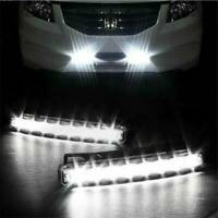 Car Vehicle 8 LED Daytime Running Light DRL Fog Lamp Day Driving Daylight Kits