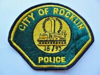 Vintage City of Rocklin, CA Police Department 2nd Issue Cheese Cloth Patch Used