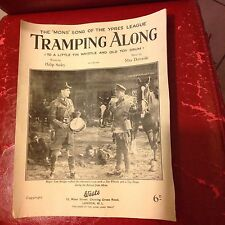 Tramping along  Mons Song Ypres League Sheet Music Rare WW1 Wartime