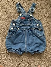Baby Guess Denim Short Overalls One Piece Shorts 3-6 Months Infant Girl Boy
