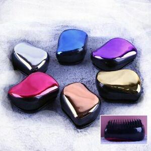 Magic Anti-static Hair Brush Handle Tangle Detangling Comb Shower Electroplate