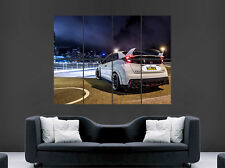 HONDA CIVIC TYPE R CAR POSTER CITY NEON LIGHTS HONG KONG SPEED RACING FAST