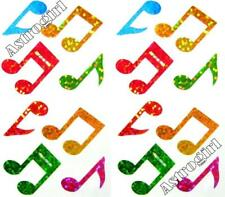 Sparkle Rainbow Music Notes Musical Musician Hambly Studios Glitter Stickers
