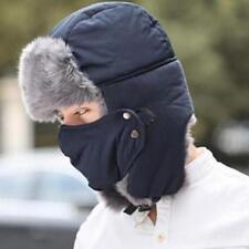 1*Unisex Men Trooper Earflap Winter Trapper Aviator Warm Ski Hat With Mas Gift s