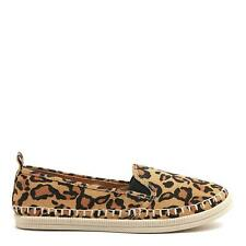 Rocket Dog Mango Women's Animal Leopard Print Cotton Slip-On Flat Espadrille