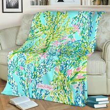 Sky Blue Heaven Lilly Pulitzer Premium Blanket