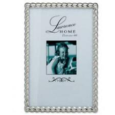 LawrenceFrames 710046 4 x 6 in. Rope Picture Frame Silver