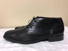 """Calvin Klein """"Shore"""" Men  lace up black Leather ankle Boots  Size 13 M"""