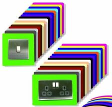 5 X SINGLE LIGHT SWITCH SURROUND FROSTED ACRYLIC PERSPEX FINGER PLATE