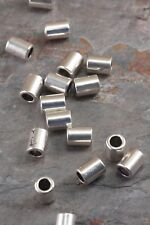 Lot of 10 Pieces Tibetan Silver 8mm x 6mm Flat Retro Tube Barrel Spacer Beads