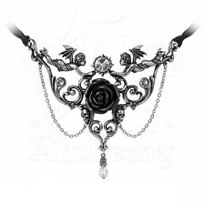 Necklace Collier Alchemy Gothic Mesukmus Cherubs Angels Skull Rose Ange Gothique