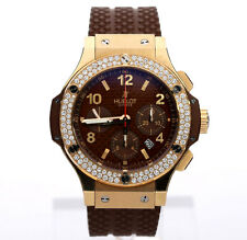Hublot Big Bang 301-W 18K rose gold diamond watch + box 1.7CT 44MM $43,600 ret