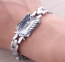 DZ901 Anime Attack on Titan Alloy BRACELET Freedom Wings Logo Cosplay Christmas