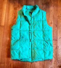 Vintage 90's LANDS END Boys Winter Nylon Puffer Vest Bright Green XL 18-20